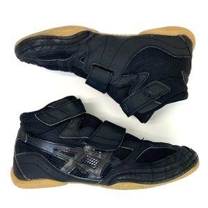 ASICS Matflex Black Wrestler Shoes Size 5.5